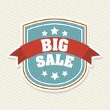 Big sale. Over lineal background vector illustration Stock Image