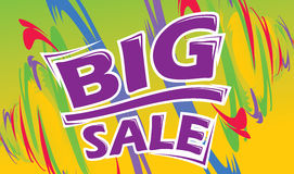 Big Sale. Retail promotion poster Stock Photography