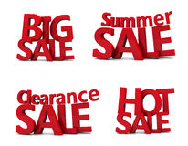 Big sale 3d. Over white background Stock Photos