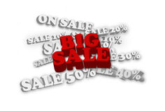 Big sale 3d on the less discount rate Royalty Free Stock Photos