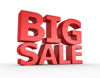 Big sale - 3d render. On the white background Stock Photography