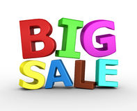 Big sale - 3d render. On the white background Royalty Free Stock Photography