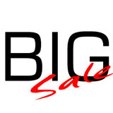 Big Sale. Big-Sale for Big Sale events Stock Photo