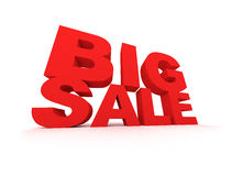 Big Sale. Sign in red over white background Royalty Free Stock Image