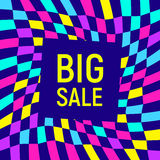 Big sale abstract background, neon memphis style Royalty Free Stock Images
