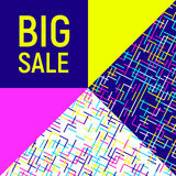 Big sale abstract background, neon memphis style Royalty Free Stock Photos