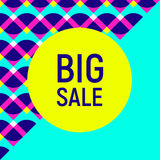 Big sale abstract background, neon memphis style Stock Photography