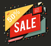 Big sale advertising banner layout special offer concept sticker vector illustration Royalty Free Stock Images