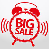 Big sale alarm clock, vector Royalty Free Stock Photo