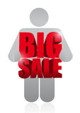 Big sale avatar business sign Royalty Free Stock Photo