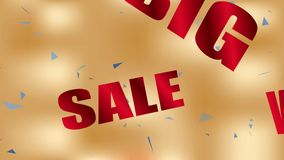 Big Sale background stock video footage