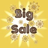 Big sale   vector illustration eps10. Big sale  Background big competition concept design figure final illustration isolated line only people red reductions run Stock Image