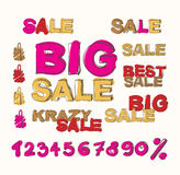 Big sale  background Royalty Free Stock Photography