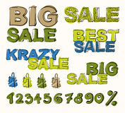 Big sale  background Stock Photos