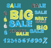 Big sale  background Royalty Free Stock Photo
