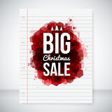 Big sale background. Lettering on a stylized ink b Royalty Free Stock Photos