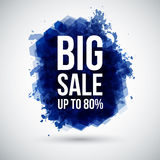 Big sale background. Lettering on a stylized ink b Royalty Free Stock Image