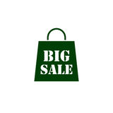 Big sale bag  icon Royalty Free Stock Images