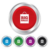 Big sale bag sign icon. Special offer symbol. Stock Photos