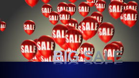 Big sale balloons Royalty Free Stock Photo