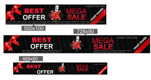 Big sale banner, best offer, vector Royalty Free Stock Image