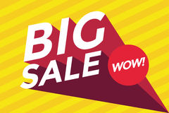Big sale banner, best offer, Wow Royalty Free Stock Photo