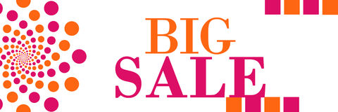 Big Sale Banner Circles Stock Images