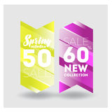 Big Sale Banner. Crystal. Vector Illustration Stock Photo