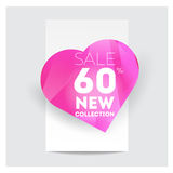 Big Sale Banner. Crystal. Vector Illustration Royalty Free Stock Photo