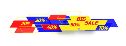 Big sale banner Royalty Free Stock Photo