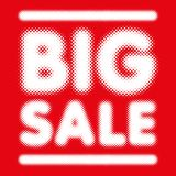 Big Sale banner in halftone font. Ideal for retail store announcement banners Stock Photos