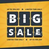 Big sale banner. Stock Photos