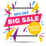 Big Sale Banner Stock Photography