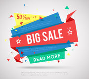 Big Sale Banner. Modern sale label, super sale or special offer sale banner Royalty Free Stock Images