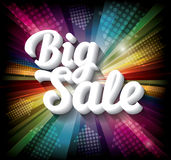 Big Sale banner on rainbow background Stock Images