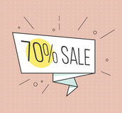 Big sale banner. Retro comic style. Vector illustration. Vintage bubble on the red background. Stock Image