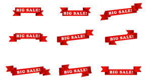 Big sale banner ribbons Royalty Free Stock Photos