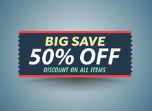 Big Sale banner Royalty Free Stock Images