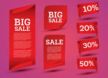 Big Sale Banner Set. Ribbon. Vector Illustration Stock Photography