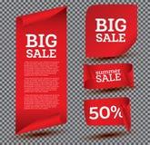 Big Sale Banner Set on Transparent Background. Royalty Free Stock Photo