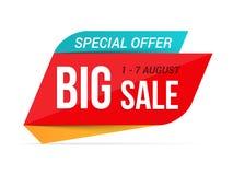 Big Sale Banner. Special offer, vector eps10 illustration Stock Images