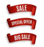 Big Sale Banner.Super Sale Banner Ribbon. Vector Illustration Stock Photos