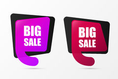 Big Sale. Banner templates. Vector. Illustration Stock Photography
