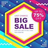 Big sale banner. Vector illustration. royalty free illustration