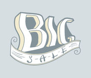 Big sale banner. Big sale vintage vector illustration. Sale banner Stock Photos