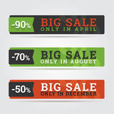 Big sale banners. Stock Photography