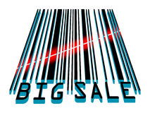 Big Sale bar code concept with laser light. EPS 8 Stock Photography