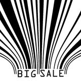 Big Sale bar codes all data is fictional. EPS 8 Stock Image