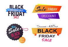 Big Sale Choice Black Friday Vector Illustration Royalty Free Stock Photo