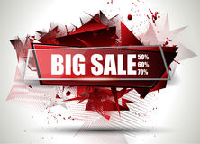Big Sale Best Discoount in time web banner for shop sales promotions Stock Photography